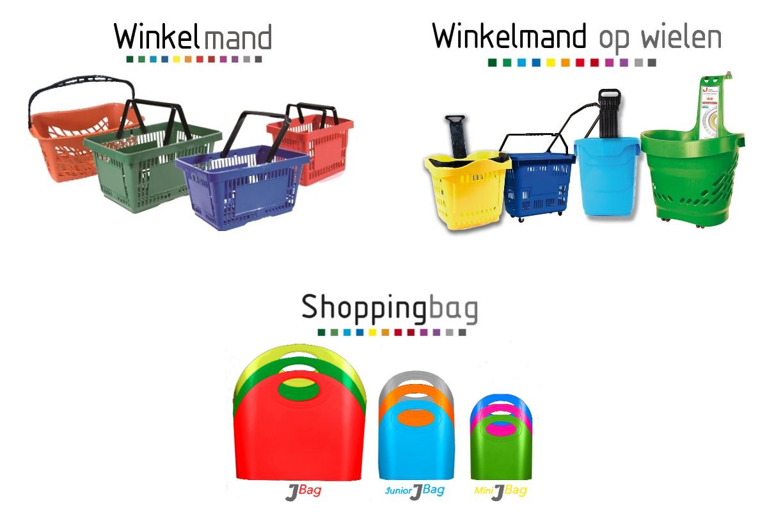 Standaard winkelmand | Winkelmand op wielen | Shoppingbag